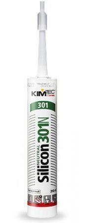 Герметики Силикон нейтральный, белый, 310мл KIM TEC 301N Крепика дом крепежных материалов